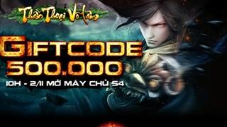 Thần Thoại Võ Lâm tặng 500 VIP Code mừng máy chủ mới