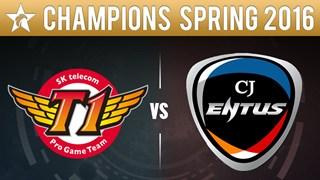 LCK: SKT giành chiển thắng trước CJ Entus sau 3 ván đấu