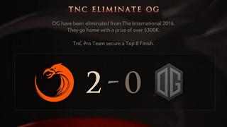 OG thua trắng 2 trận, TNC đưa tên mình vào top 8 của TI6