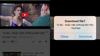 Tải video từ Youtube về iPhone trong một nốt nhạc (Không Jailbreak)