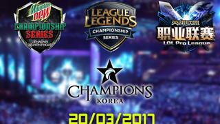 LMHT: Tổng hợp các trận đấu trong ngày 20/03/2017