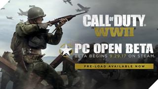 Hướng dẫn xây dựng cấu hình chiến Open Beta Call of Duty: WWII sắp ra mắt