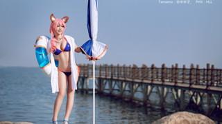 Ngắm nhìn cosplay Cửu Vĩ Linh Hồ với trang phục bể bơi trong Fate/Grand Order