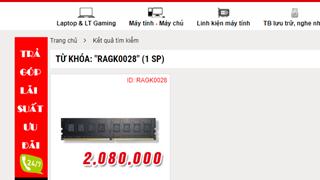 Giá RAM đã tăng gần gấp 3 sau hơn 1 năm
