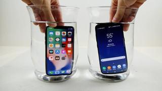 Đem iPhone X và Galaxy S8 đi đông lạnh: S8 sống nguyên, iPhone X hỏng FaceID, hết sạch pin