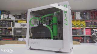 Cậnh cảnh quá trình lắp đặt bộ máy tính xanh trắng cực đẹp