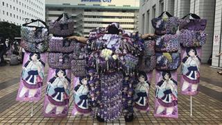 Đeo lên mình đố lưu niệm quá cồng kềnh, nhiều Otaku Nhật Bản đã bị mời ra khỏi sự kiện