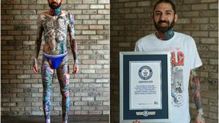 Xuất hiện thanh niên đạt kỷ lục Guinness với 31 hình xăm nhân vật Marvel trên cơ thể