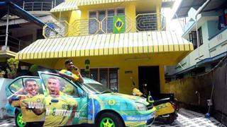 Sơn toàn bộ căn nhà màu vàng để ủng hộ cho Brazil, fan chân chính là đây chứ đâu