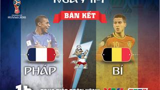 Lịch thi đấu World Cup 2018 vòng bán kết ngày 11-7 và 12 - 7