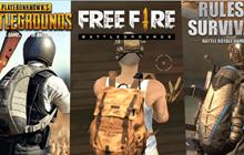Garena Free Fire với PUBG Mobile và Rules of Survival: Tựa game nào đáng chơi nhất?