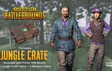 PUBG: Nhanh tay loot Jungle Crate, quà tặng miễn phí từ Twitch Prime