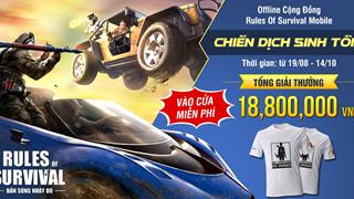 ROS Mobile: Nhận quà cực hot khi tham dự offline Chiến Dịch Sinh Tồn tại Hà Nội ngày 19/8