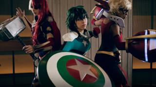 Ngắm nhìn bộ cosplay kết hợp giữa My Hero AcademiavàAvengers siêu chất của 3 cô gái trẻ