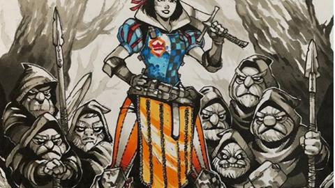 Sẽ như thế nào khi mà những nàng công chua Disney khoác cho mình bộ giáp mạnh mẽ, chiến đấu chống giặc ngoại xâm