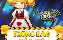 Dragon Nest Mobile - tổ chức tung quà đền bù siêu khủng sau bảo trì