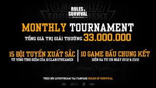 Cuối tuần này xem gì? Chung kết ROS Mobile Monthly Tournament với giải thưởng 33 triệu đồng vào 17h ngày 21, 22/12