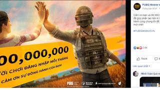 PUBG Mobile: Cán mốc 100 triệu người chơi, tương tác mỗi tháng