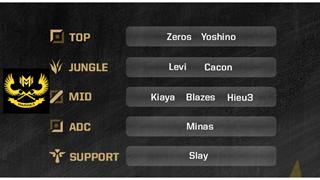 LMHT - GAM eSports công bố đội hình chính thức, Levi Đi rừng, Zeros đi top song kiếm hợp bích