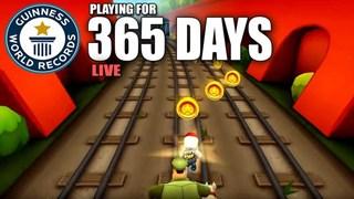 Kênh Youtube mở stream chơi Subway Surfers liên tục 365 Ngày, mục tiêu lập kỉ lục thế giới