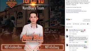 Nam Blue bất ngờ bị khóa tài khoản khi đang thi đấu giải PUBG Mobile