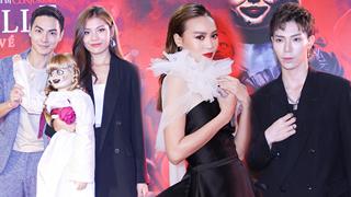 Ninh Dương Lan Ngọc và vợ chồng Chúng Huyền Thanh - Jay Quân e dè trước búp bê ma ám Annabelle