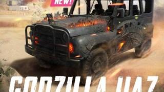 PUBG Mobile: Xe UAZ vừa được bổ sung skin chủ đề Godzilla