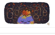 Mùa thu 2019 được thông báo trên Google Doodle ở Bắc bán cầu bắt đầu khi nào?