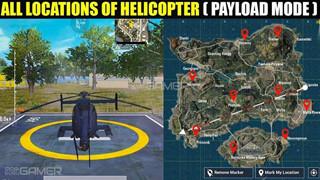 PUBG Mobile: 10 địa điểm tìm thấy trực thăng có trong Chế độ Payload