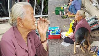 Bà cụ vô gia cư nhịn ăn để gửi chó của mình vì sợ bị câu mất