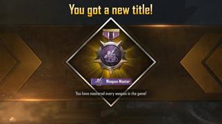 PUBG Mobile: Làm cách nào để có được danh hiệu Weapon Master