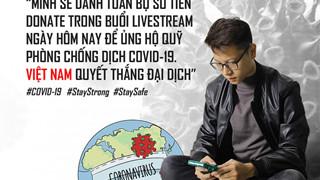 Bomman tổ chức livestream quyên góp chống dịch và được game thủ khen ngợi hết lời