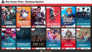 Bất ngờ rò rỉ lộ trình ra mắt game của Riot Games, LMHT: Tốc Chiến vẫn có thể sẽ ra mắt trong năm 2020