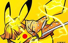 Chiêm ngưỡng sự kết hợp vô cùng độc đáo giữa Kimetsu no Yaiba và Pokemon với nhau