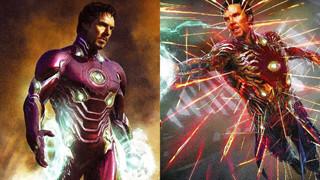 Avengers: Infinity War: Fan phấn khích trước loạt ảnh hậu trường Doctor Strange mặc giáp Iron Man