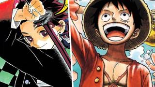 One Piece vượt trội hoàn toàn về doanh số. Kimetsu No Yaiba tăng 20 triệu bản in trong 2 tháng