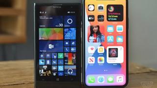 Apple bị cộng đồng chê bai cho rằng iOS 14 y hệt Live Tiles của Windows Phone