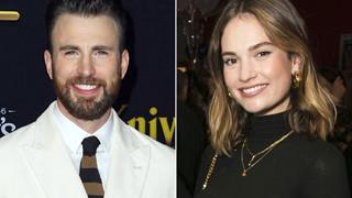 Nghi vấn Captain America Chris Evans hẹn hò Lily James