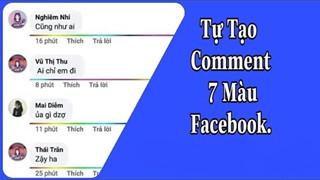 Hướng dẫn: Cách comment đường kẻ 7 màu trong phần bình luận của Facebook