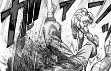 """Spoiler Kengan Omega chap 69: Rihito quật nát người Hayabusa.""""Nhẫn Giả"""" chơi xấu hạ độc đối thủ!"""