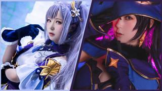 Mỹ nhân cosplay waifu Keqing, Mona trong Genshin Impact, game thủ đua nhau giành cưới!
