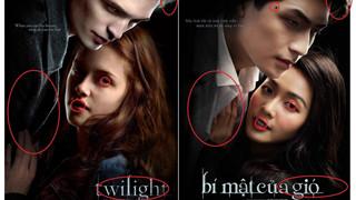 """Cư dân mạng soi điểm khác nhau giữa poster """"Bí mật của gió"""" và Twilight, """"Chị chị em em"""" nằm không cũng dính đạn"""