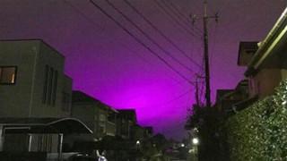 Bí mật đằng sau bầu trời màu tím như trong phim kinh dị ở Nhật