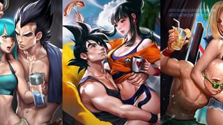 Loạt fanart không đấm nhau của Dragon Ball: Goku đừng cho ăn đậu thì yên bình thế này đây!