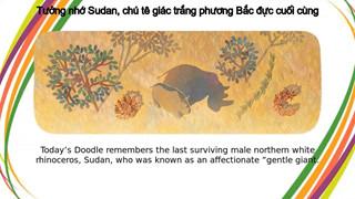 Google Doodle tưởng nhớ về Sudan - chú tê giác trắng phương Bắc đực cuối cùng