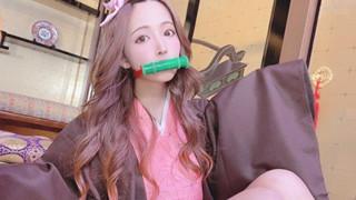 Hết Eimi Fukada, đến lượt diễn viên JAV Yua Mikami cosplay Nezuko Kimetsu No Yaiba
