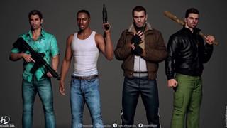 Ngắm nhìn dàn nhân vật chính seri Grand Theft Auto với độ phân giải HD