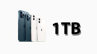iPhone 13 Pro, iPhone 13 Pro Max có thể là hai mẫu được bán với bộ nhớ lưu trữ 1TB năm 2021