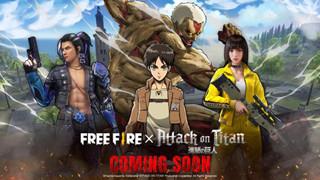 Garena tuyên bố hợp tác Free Fire x Attack On Titan - Bạn đã sẵn sàng biến thành Titan chưa?