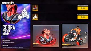 Free Fire: Cobra Top Up đã ra mắt! Cobra Statue Loot Box và Biker Emote độc quyền
